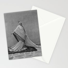 Modern Interpretive Dance, Female Form Fashion black and white photography / photographs Stationery Cards