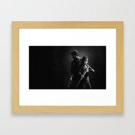 The Last of Us - Joel & Ellie Framed Art Print