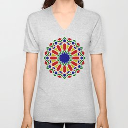 Art Moorish Arabesque Moroccan 2 Unisex V-Neck