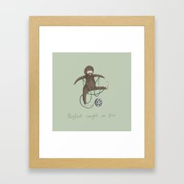 Bigfoot Caught on Film Framed Art Print
