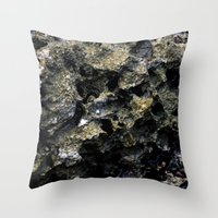 rocky Throw Pillows featuring Rocky by C. Wie Design