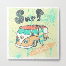 Van surf Metal Print