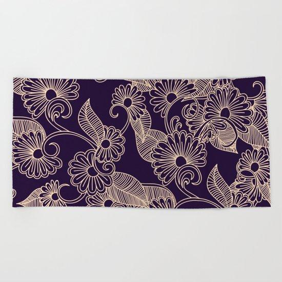 Floral Pattern Beach Towel