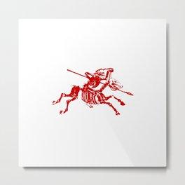 Skeleton Horse Rider Metal Print