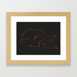 Sleeping Sandy Framed Art Print