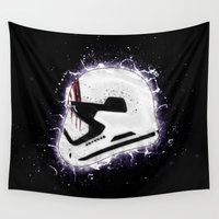 storm trooper Wall Tapestries featuring Storm by Andrew Treherne