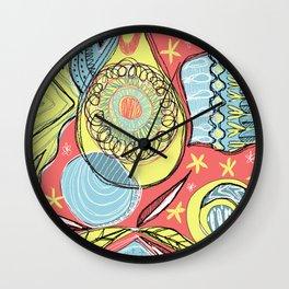 Retro doodles Wall Clock