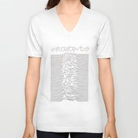 joy division V-neck T-shirts featuring Joy Division Pulsar Art Japanese  by tumblrian