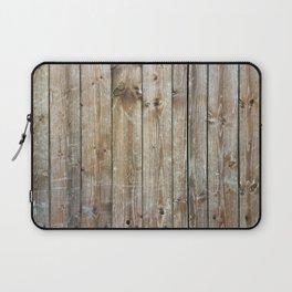 Rustic Wooden Plank Texture Laptop Sleeve