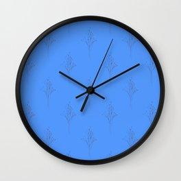 Caramel Twig Pattern Wall Clock