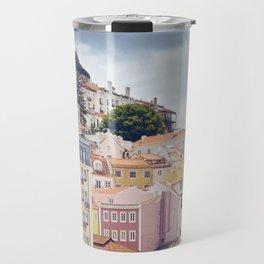 Candy coloured Lisbon Travel Mug