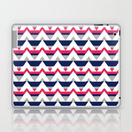 Chevron in pink and blue Laptop & iPad Skin
