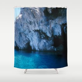 NATURE'S WONDER #5 - BLUE GROTTO (Turkey) #2 #art #society6 Shower Curtain