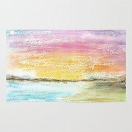 Magic Sunset Watercolor Art Rug
