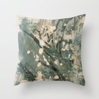 snow Throw Pillows featuring Snow  by Peter Coleman