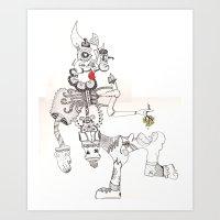 bull Art Prints featuring Bull by eldo