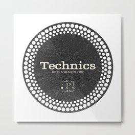 Technics - Disc Jockey Metal Print