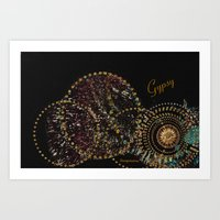 gypsy Art Prints featuring Gypsy by Sherri of Palm Springs   Art and Design