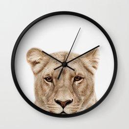 Lioness Print Wall Clock