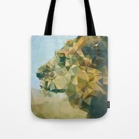 lion Tote Bags featuring Lion by Esco