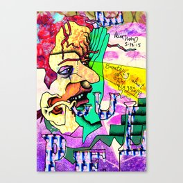 No stigmata, just jet lag Canvas Print