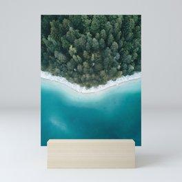 Green and Blue Symmetry - Landscape Photography Mini Art Print