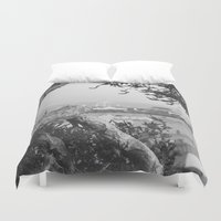 santa monica Duvet Covers featuring santa monica by gabriellevictoria