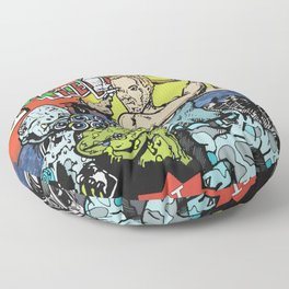 Dave Vs The Monsters Floor Pillow