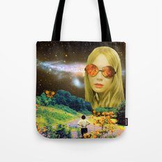 Distant Meeting Tote Bag
