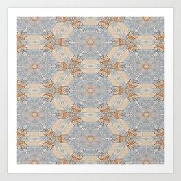 The Alamo Kaleidoscope DNA 6390 Art Print