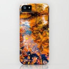 Boston Fall Foliage Reflection iPhone Case