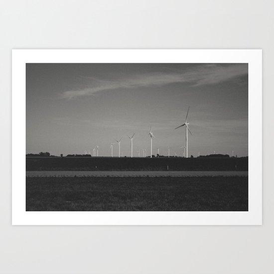 wind-powered Art Print