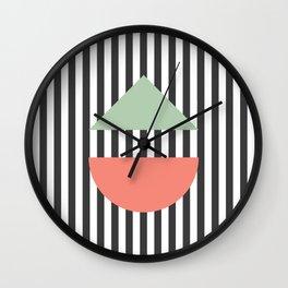 Stripes Geometric Wall Clock