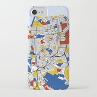 san francisco map iPhone & iPod Cases featuring San Francisco by Mondrian Maps