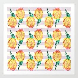Dragon fruits Art Print