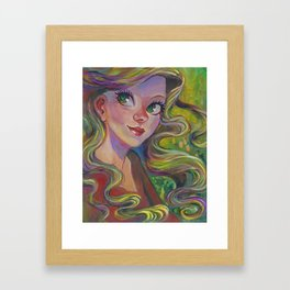The Girl Who Dreamed Framed Art Print