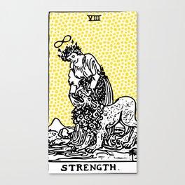 Modern Tarot Design - 8 Strength Canvas Print