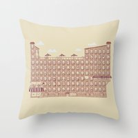 the neighbourhood Throw Pillows featuring Periodic Neighbourhood by Salih Gonenli