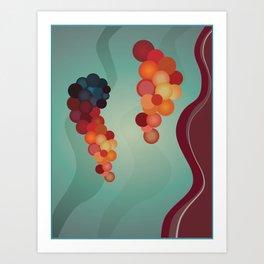 Digital Merlot 2 Art Print