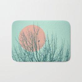 Birds and tree silhouette 2 Bath Mat