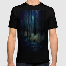 Forest Stream Mens Fitted Tee Black MEDIUM