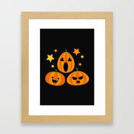 Spooky Pumpkin Framed Art Print