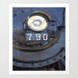 Lokomotive No 790 - Illinois Central Art Print