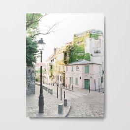 La Maison Rose, Pink Café in Paris, France | The Pink House in Montmartre, Paris, France | Fine Art Travel Photography Metal Print