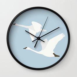 Elegant Swan Minimalist Wall Clock