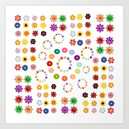 Many Flowers Art Print