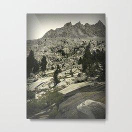 Water and Granite Metal Print