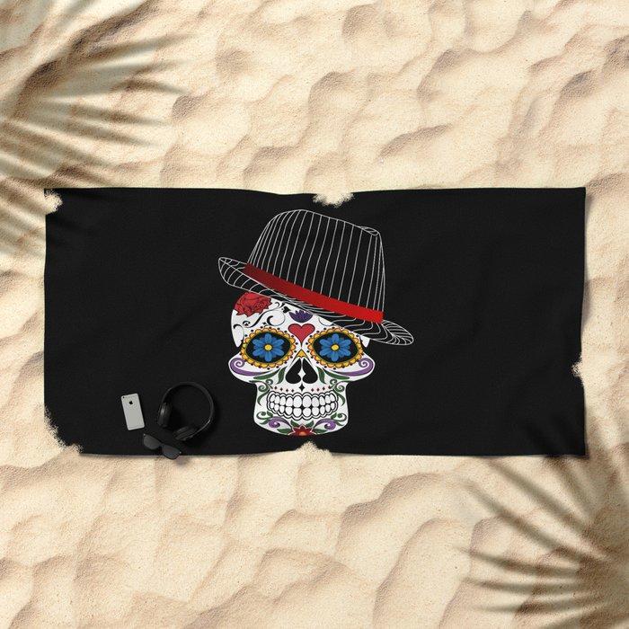 Hipster Modern and Trendy Skull Horror Beach Towel