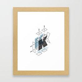 The Exploded Alphabet / K Framed Art Print