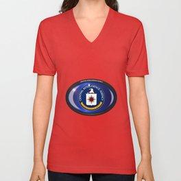CIA Flag Oval Unisex V-Neck